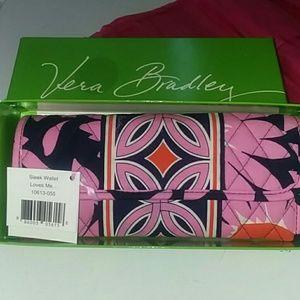 Vera Bradley sleek wallet